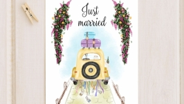 Листівка «Just married»