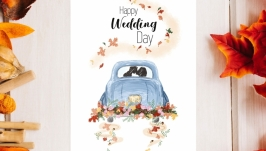 Листівка «Happy Wedding Day»