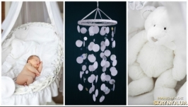 White Baby Mobile handmade exclusive Dreamcatcher bedroom Baby Mobiles