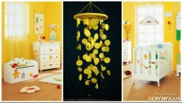 Yellow Baby Mobile handmade exclusive Dreamcatcher bedroom Baby Mobiles