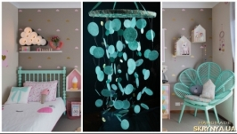 Mint Baby Mobile handmade exclusive Dreamcatcher bedroom Baby Mobiles