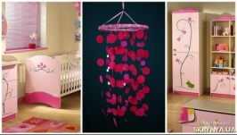 Pink Baby Mobile handmade exclusive Dreamcatcher bedroom Baby Mobiles