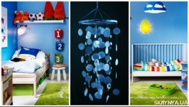 Blue Baby Mobile handmade exclusive Dreamcatcher bedroom Baby Mobiles