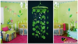 Green Baby Mobile handmade exclusive Dreamcatcher bedroom Baby Mobiles