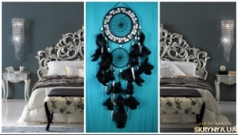 Black Dreamcatcher silver mosaic Dream Catcher Large Dreamcatcher