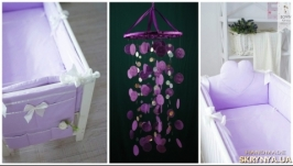 Lilac Baby Mobile handmade exclusive Dreamcatcher bedroom Baby Mobiles
