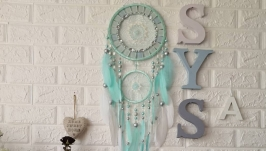 Dreamcatcher mint mosaic Dream Catcher Large Dreamcatcher New Dream