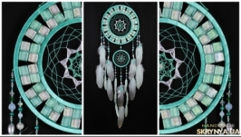 Dreamcatcher Mint mosaic Dream Catcher Large Dreamcatcher