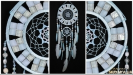 Dreamcatcher Blue mosaic Dream Catcher Large