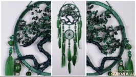 Green Dream Catcher Tree of life malachite Dreamcatcher New