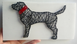 Картина в стилі String art ′Dog′