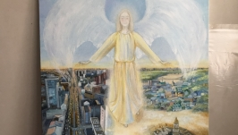 Ангел Киев картина Янгол Київ Angel Kyiv painting