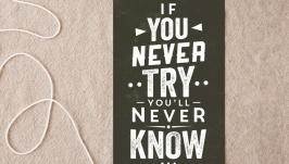 Открытка для флэтлэй фото 10*15 см If You Never Try You′ll Never Know