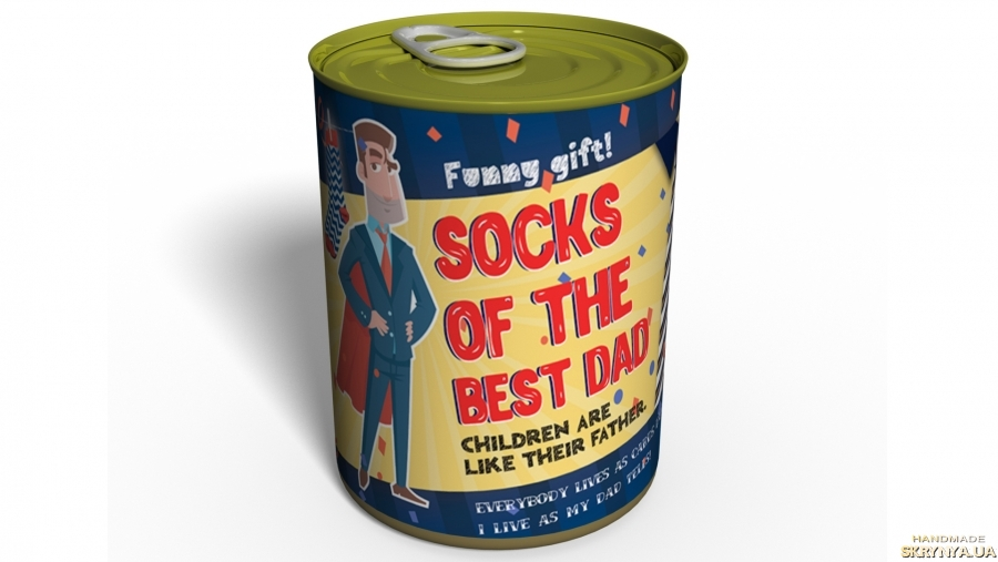 тут зображено Canned Socks Of The Best Dad - Gift For Father - Gift Father`s Day
